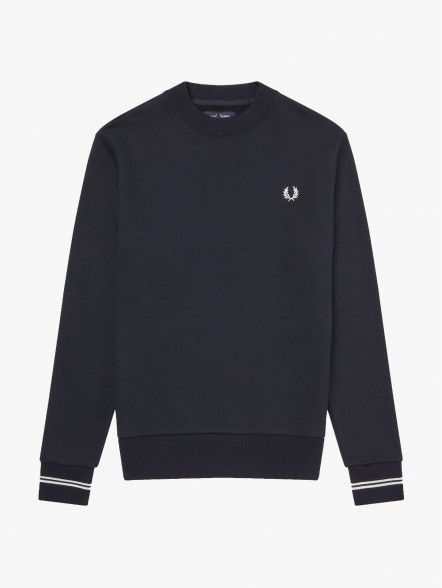 Fred Perry Crew Neck   Fuxia, Urban Tribes United.