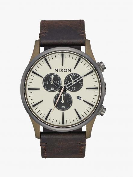 Nixon Relógio Sentry Chrono Leather | Fuxia, Urban Tribes United.