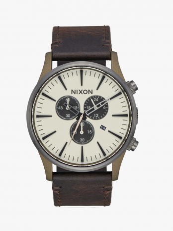 Nixon Relógio Sentry Chrono Leather