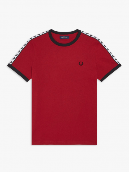 Fred Perry Taped Ringer | Fuxia, Urban Tribes United.