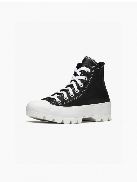 Converse All Star Chuck Taylor Lugged Leather Hi | Fuxia