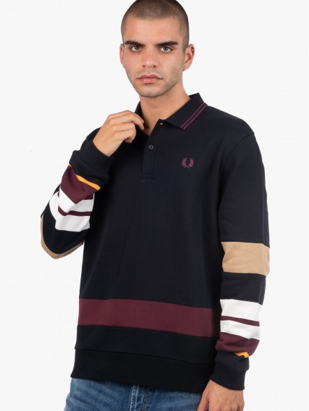 Fred Perry Striped Sleeve | Fuxia, Urban Tribes United.