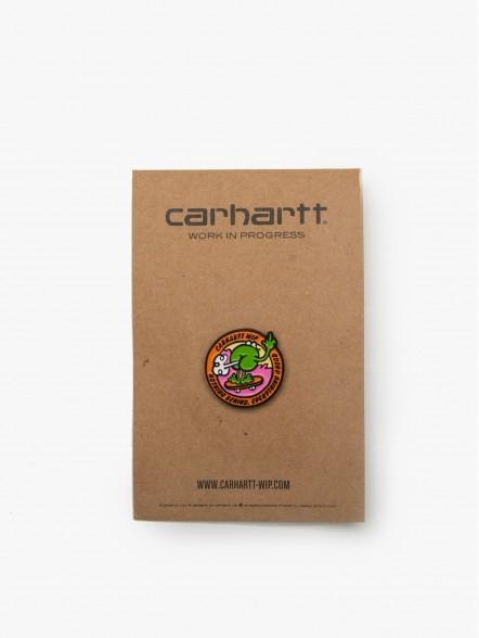 Carhartt Pin Lapel   Fuxia, Urban Tribes United.