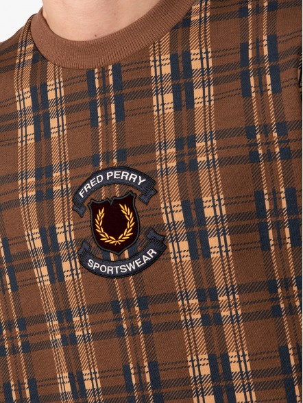 Fred Perry Shield Checked | Fuxia, Urban Tribes United.