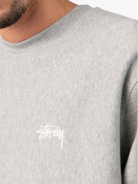 Stussy Logo Crew   Fuxia