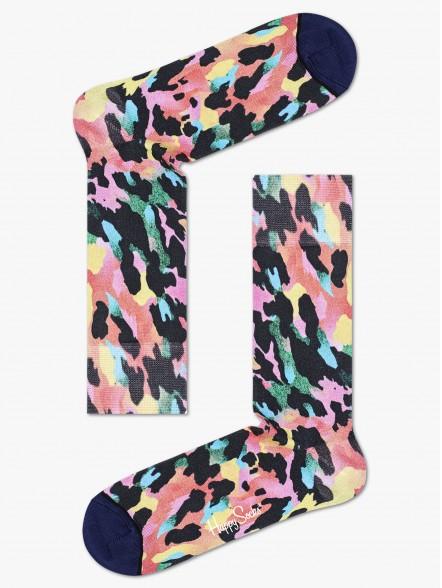 Happy Socks Gradient Leopard Printed | Fuxia, Urban Tribes United.