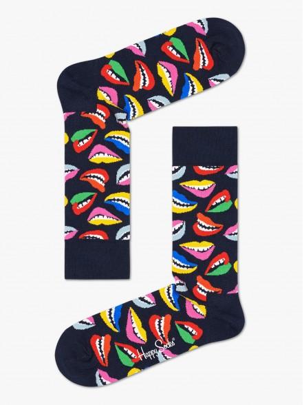 Happy Socks Lips | Fuxia