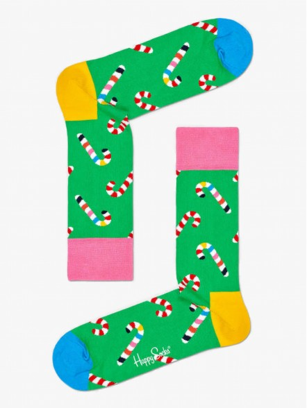 Happy Socks Candy Cane | Fuxia