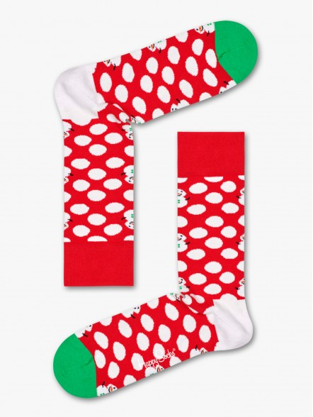 Happy Socks Big Dot Snowman | Fuxia