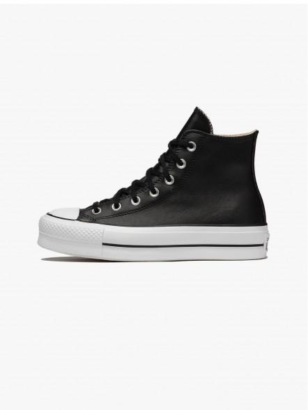 Converse All Star Chuck Taylor Leather Platform Hi | Fuxia