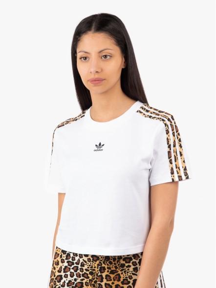 adidas Leopard Crop W | Fuxia