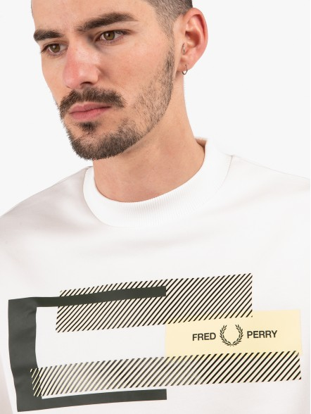 Fred Perry Mixed Graphic | Fuxia