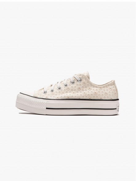 Converse Canvas Broderie Platform All Star Chuck Taylor Ox W | Fuxia
