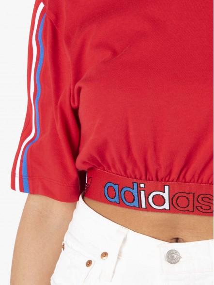 adidas Adicolor Primeblue Tricolor Cropped W | Fuxia