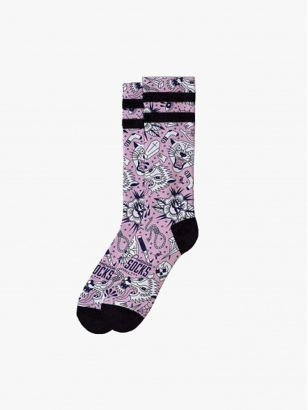American Socks Meias Troublemaker | Fuxia