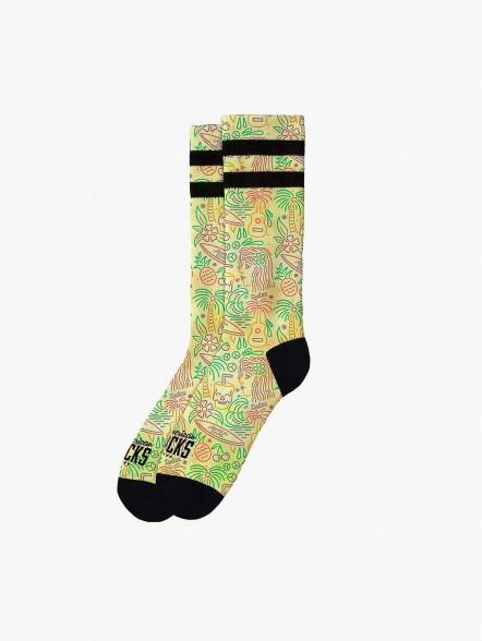 American Socks Tropical Vibe   Fuxia