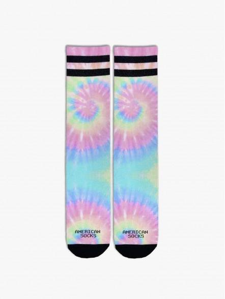 American Socks Pastel Tie Dye   Fuxia
