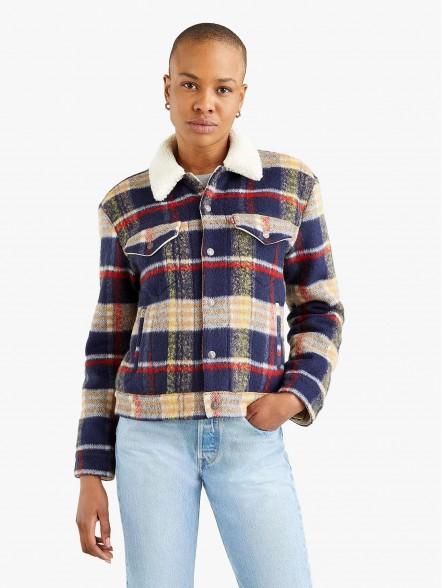 Levis Wool Trucker W | Fuxia