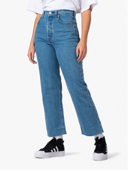 Levis Ribcage Straight Ankle W | Fuxia