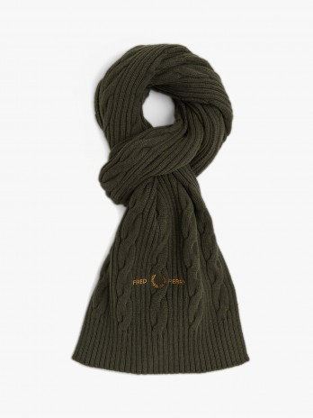 Fred Perry Cable Branded Scarf